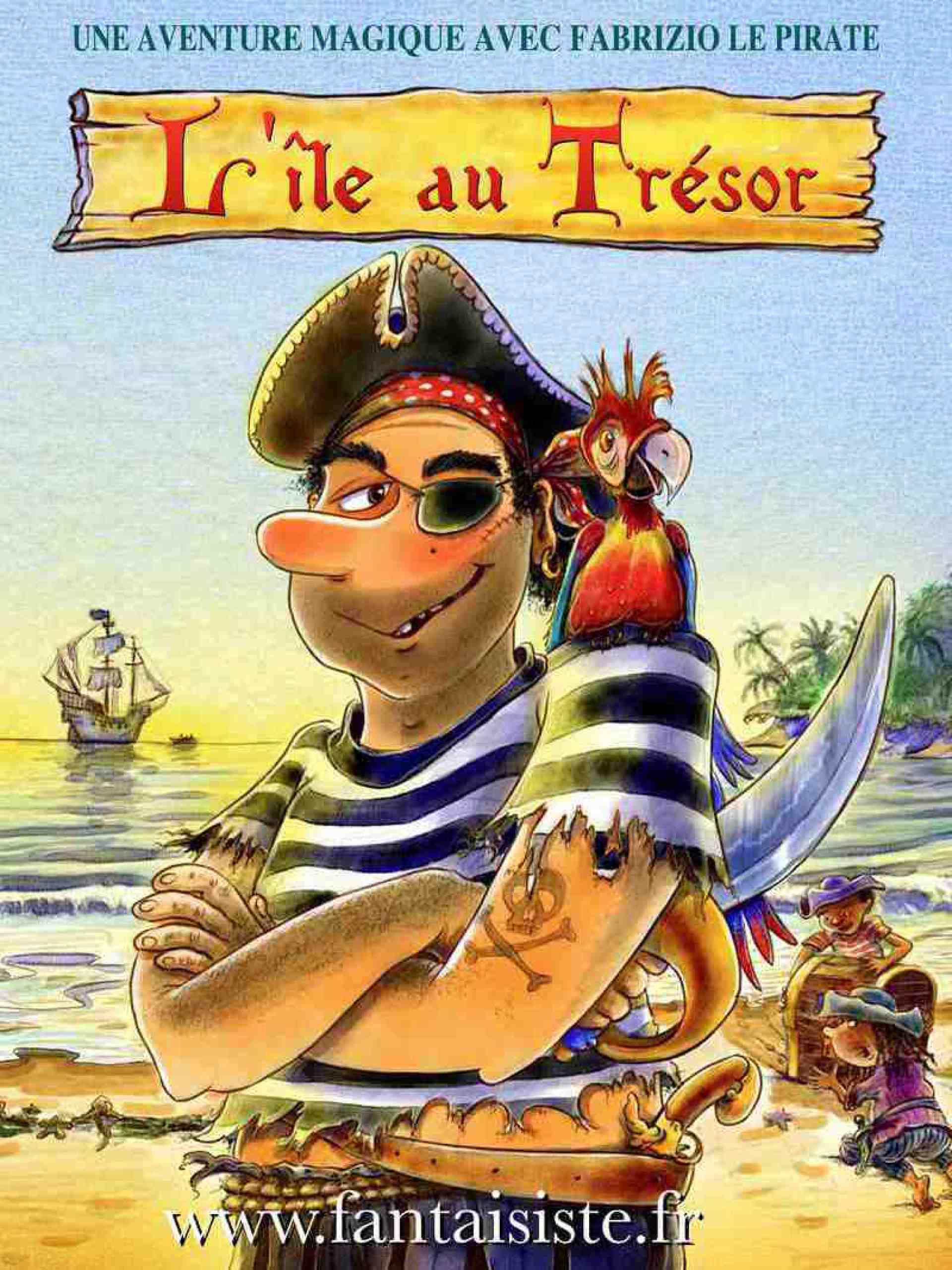 affiche de Fabrizio le pirate à Marseille, magicien pirate à Marseille, spectacle de pirate à Marseille, pirate magicien en France