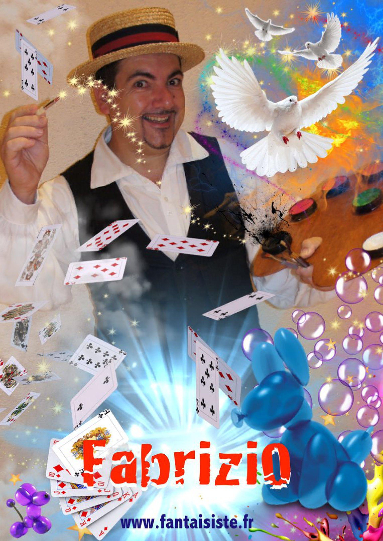artiste magicien sculpteur de ballons à Marseille et région Provence-Alpes-Côte d'Azur, Fabrizio le magicien ventriloque à Marseille France