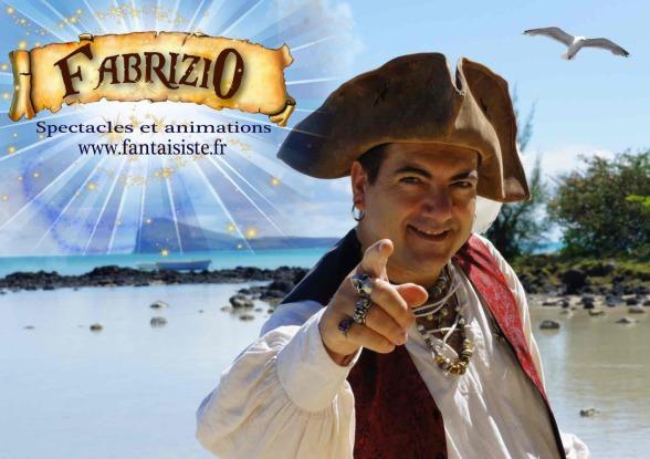 Pirate magicien pour enfants à Marseille, spectacle de magie thème pirate avec Fabrizio le magicien des enfants en région Provence Alpes Côte d'Azur France