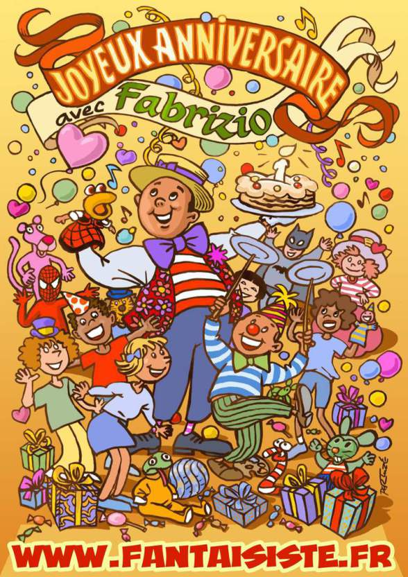 Animations et spectacles magiques pour les anniversaires à domicile en France et avec Fabrizio me magicien fantaisiste