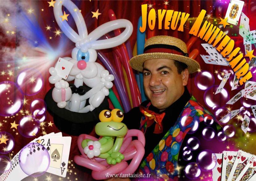 anniversaires à domicile avec fabrizio le magicien comique des enfants à Marseille et Provence