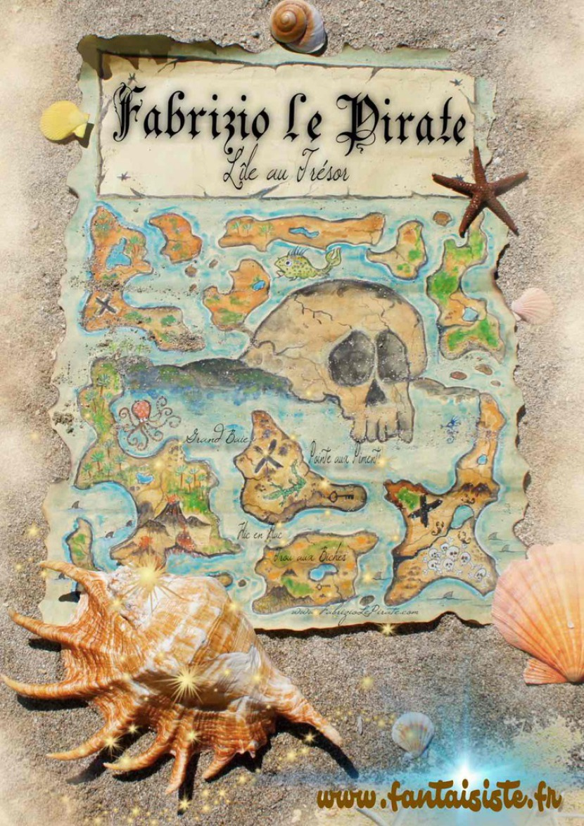 carte au trésor de Fabrizio le pirate magicien de Marseille Provence Alpes Côte d'Azur, carte au trésor de Fabrizio le pirate magicien fantaisiste en France et en Europe, Fabrizio Bolzoni Magic Balloon France