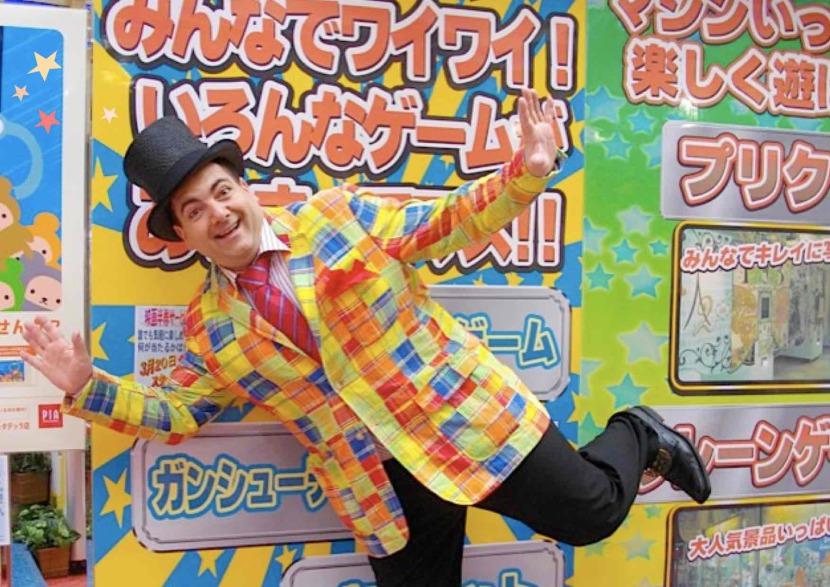 Fabrizio magicien fantaisiste en France et au Japon