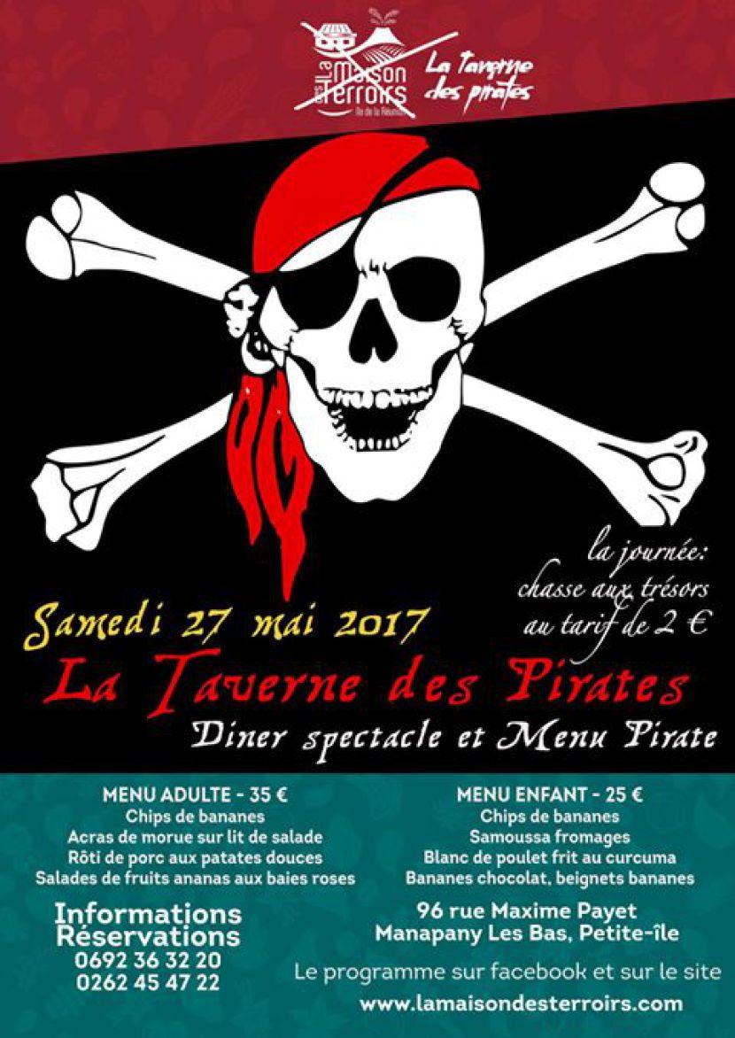 diner spectacle de pirate avec Fabrizio le magicien fantaisiste en France