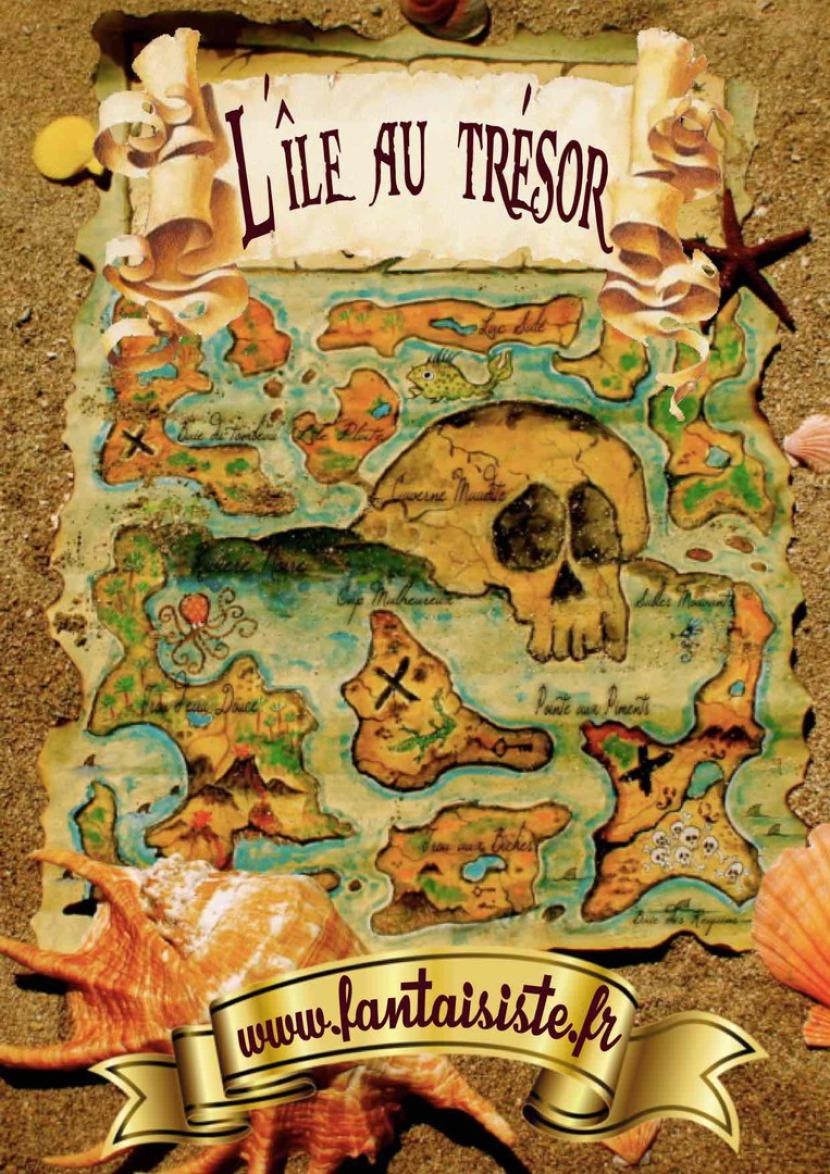 carte au trésor de Fabrizio le pirate magicien fantaisiste à Marseille et en France, l'île au trésor Marseille bouches du rhône France, magicien à Marseille
