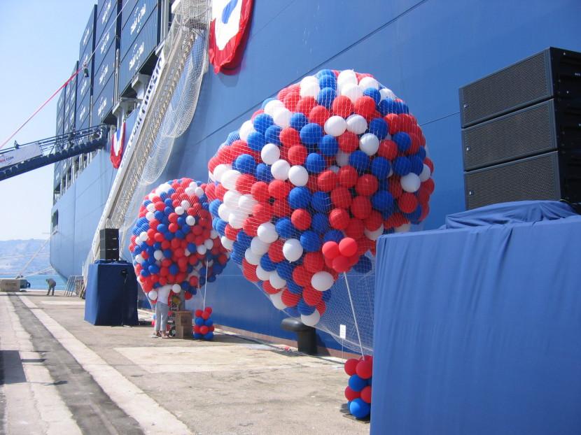 lâcher de ballon pour la CMA inauguration du Fidelio, réalisation Fabrizio le magicien fantaisiste à Marseille et région PACA France, les ballons de fabrizio Marseille