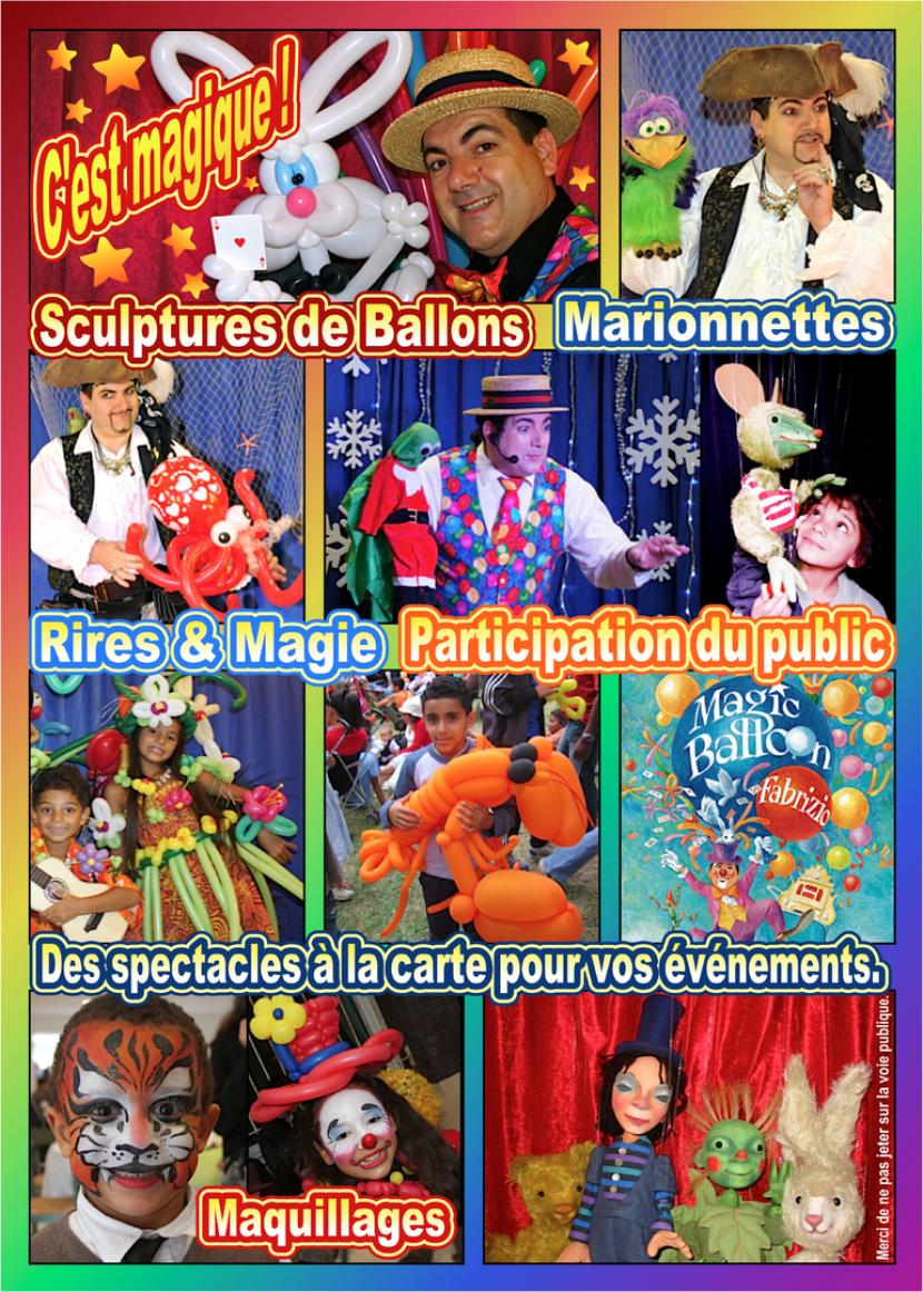 animations et spectacles pour les enfants à Marseille, artiste fantaisiste à Marseille, spectacles de magie et ballons pour les enfants à Marseille, spectacle de magie à Aix en Provence, spectacles de magie pour les enfants en région PACA, les spectacles