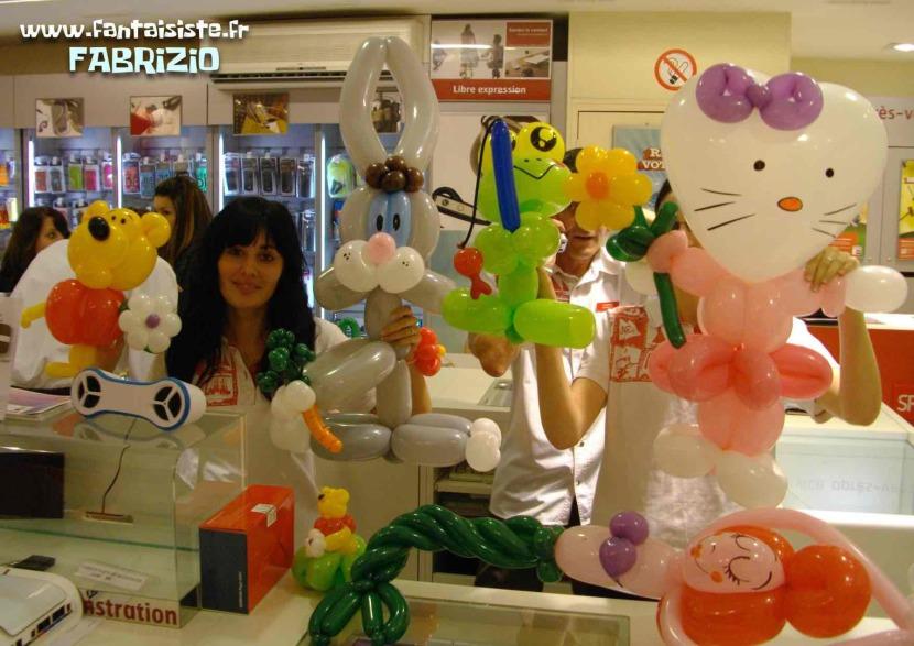 ballons sculptés de Fabrizio le magicien comique et fantaisiste à Marseille et région PACA France, magic balloon avec Fabrizio Marseille