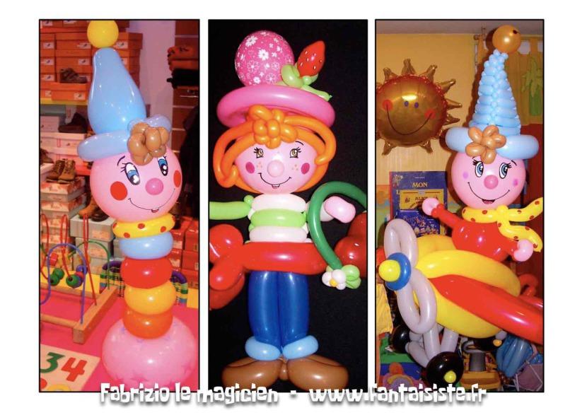 les ballons sculptés de Fabrizio le magicien fantaisiste et ses ballons magique à Marseille, région PACA France, ballons en Provence