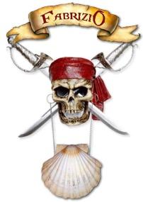 tête de mort de Fabrizio le pirate magicien à Marseille