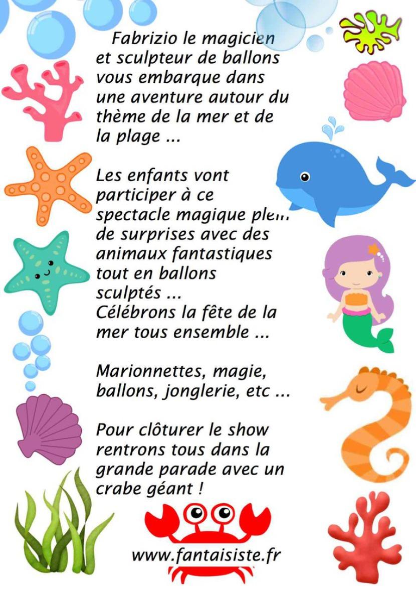 spectacle de magie et ballons sculptés avec Fabrizio le magicien des enfants à Marseille et région Provence