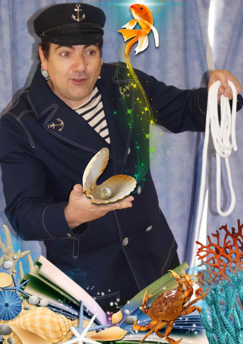 Fabrizio le marin magicien des enfants en spectacle dans les écoles en France et à Marseille région PACA