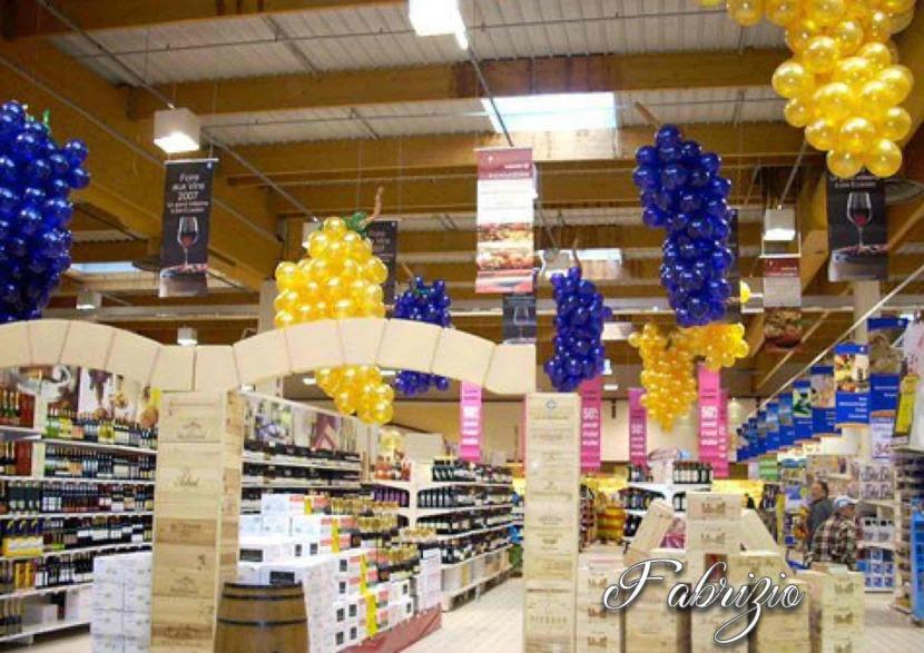 grappes de raisin en ballons Fabrizio Balloon Artist in France, décoration ballons pour la foire aux vins Marseille France