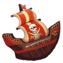 bateau pirate en ballon de Fabrizio le magicien à Marseille 13
