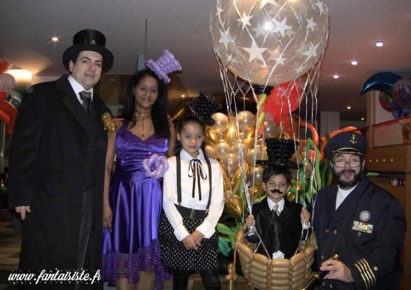 mongolfière en ballons sculptés avec Fabrizio le magicien fantaisiste Marseille 13