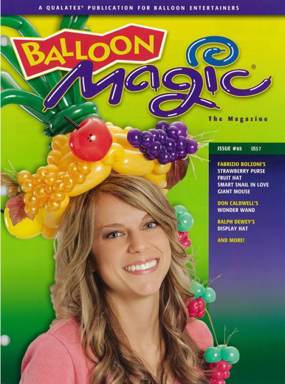 Balloon Magic Magazine Fabrizio's cover tropical fruit hat by Fabrizio