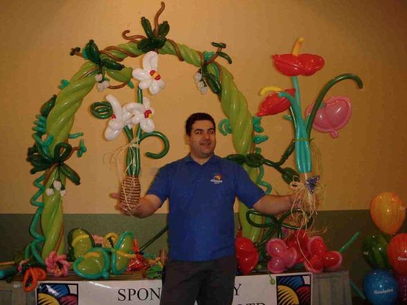 Les ballons de Fabrizio le magicien fantaisiste et sculpteur de ballons à Marseille et région PACA Balloon Artist Fabrizio Bolzoni