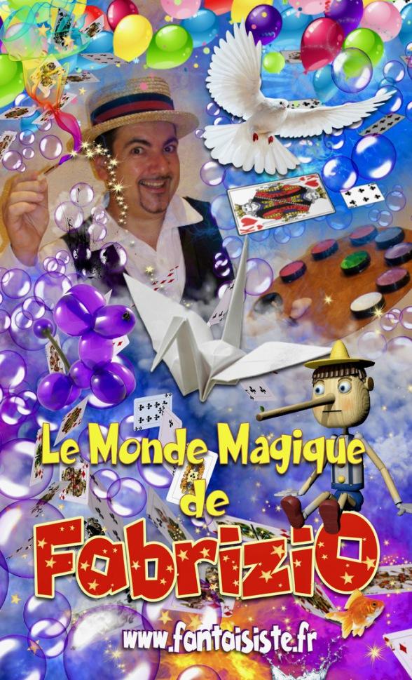 affiche de Fabrizio le magicien sculpteur de ballons de Marseille France, magicien clown Aix en Provence Fabrizio Bolzoni, Fabrice Bolzoni Balloon Artist