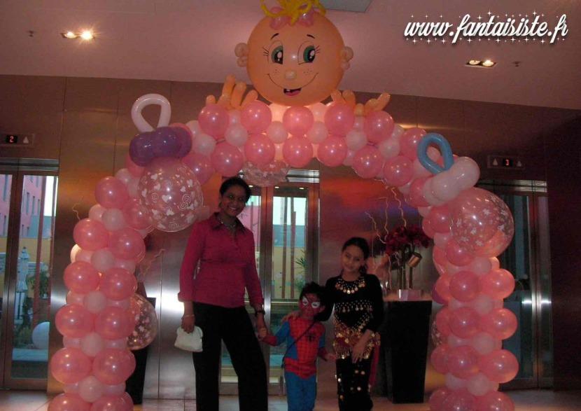 arche en ballons décoration baptême fabrizio balloon artist marseille, décoration ballons en Provence région PACA France