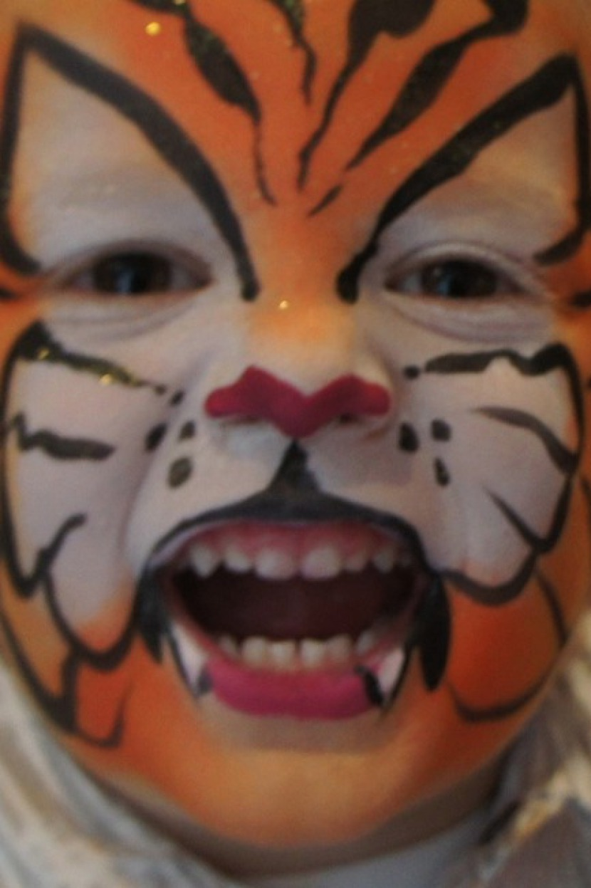 maquillage de tigre Fabrizio, tiger face painting