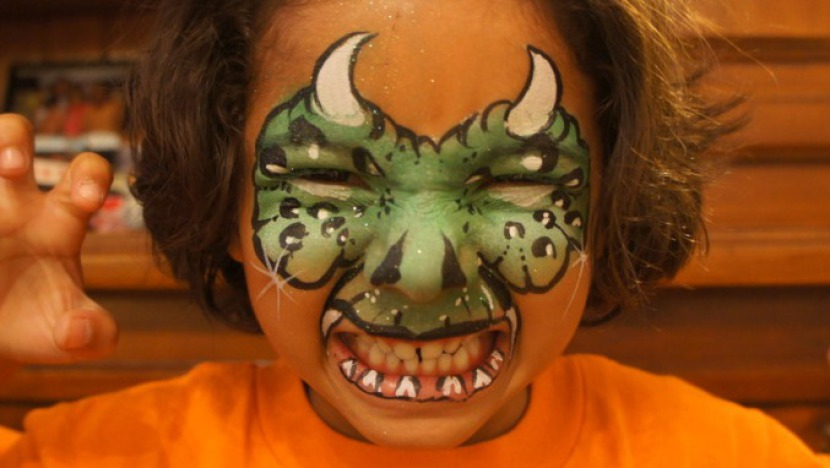 maquillage halloween de dragon de fabrizio marseille france