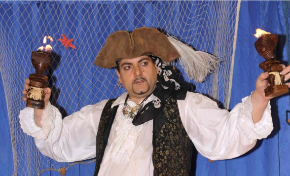 pirate magicien à marseille, fabrizio le pirate à marseille