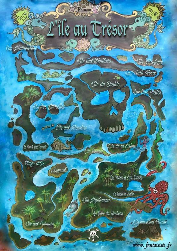 carte au trésor de Fabrizio le magicien pirate des enfants en région PACA, carte au trésor de pirate à Marseille, l'île au trésor de Fabrizio le pirate à Marseille France