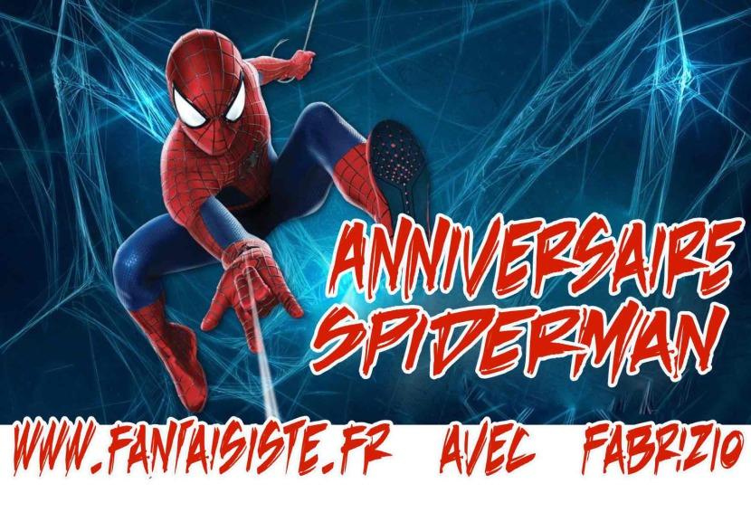 Spiderman anniversaire à domicile à Marseille avec Fabrizio le magicien des enfants