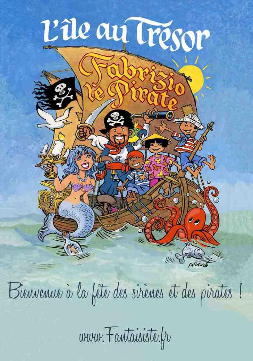 anniversaire à domicile à Marseille avec Fabrizio le magicien pirate des enfants