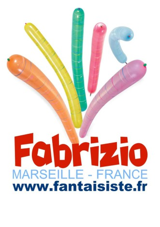 ballons de Fabrizio le magicien des enfants à Marseille France, magic balloon fantaisiste