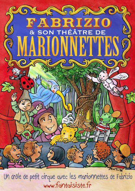 affiche de spectacle de marionnettes de Fabrizio à Marseille et région Provence