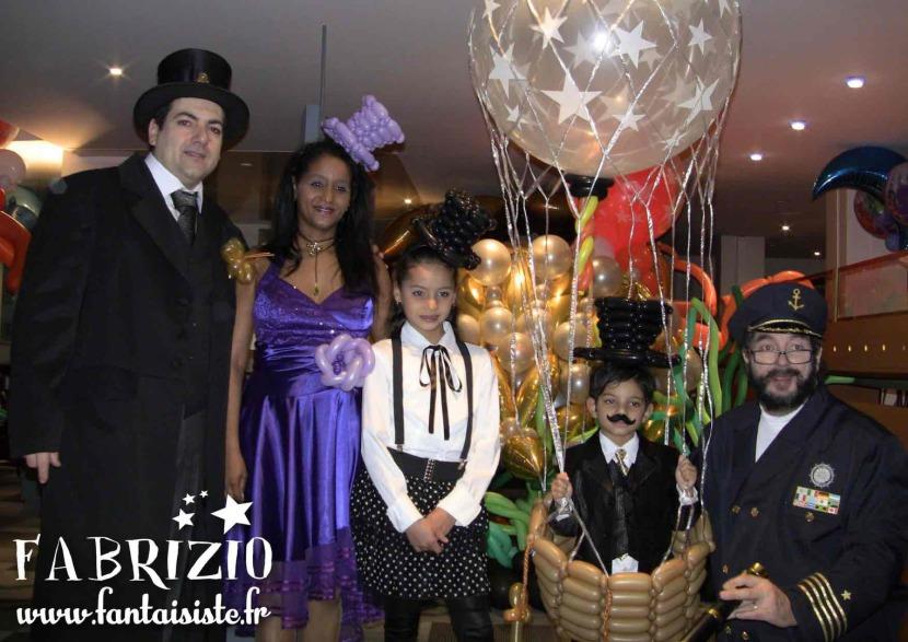 le tour du monde en 80 jours de Jules Verne avec les ballons de Fabrizio le magicien fantaisiste à Marseille