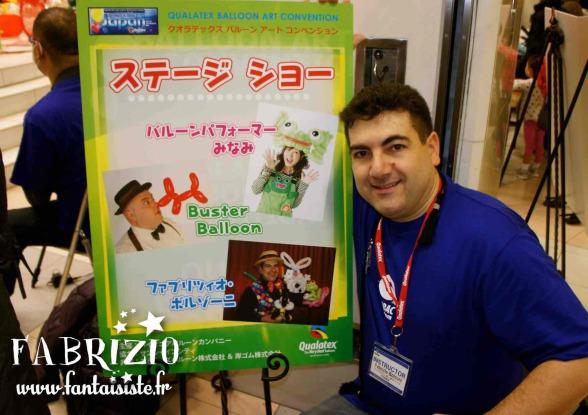 Fabrizio artiste ballooneur au Japon