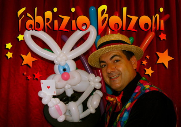 sculpteur de ballons à Marseille et provece, Fabrizio le magicien des ballons