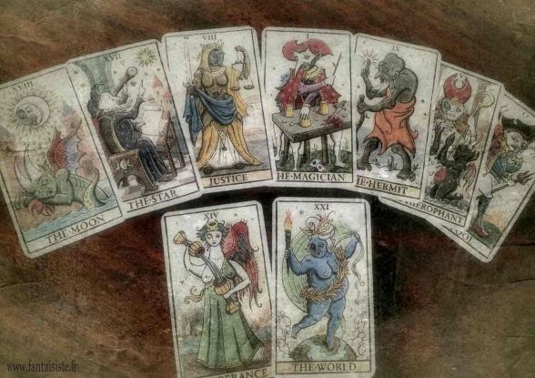 cartes du tarot de Marseille vintage, Fabrizio le magicien Marseille, trologie