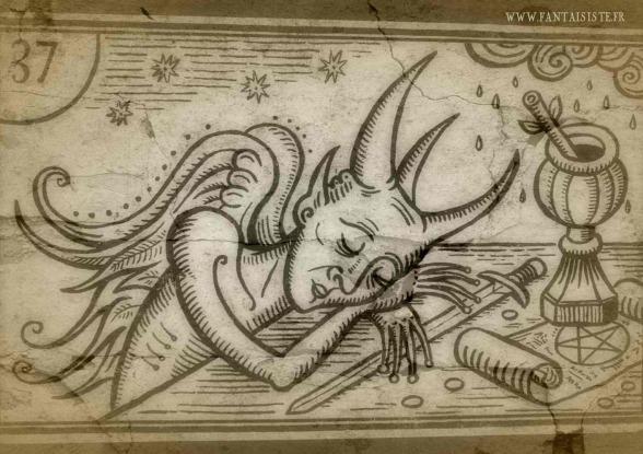 le diable s'endort, sleeping devil, tarot,marseille