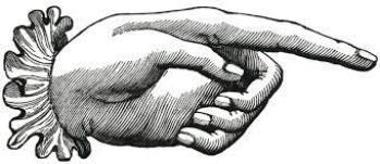 main qui pointe vintage