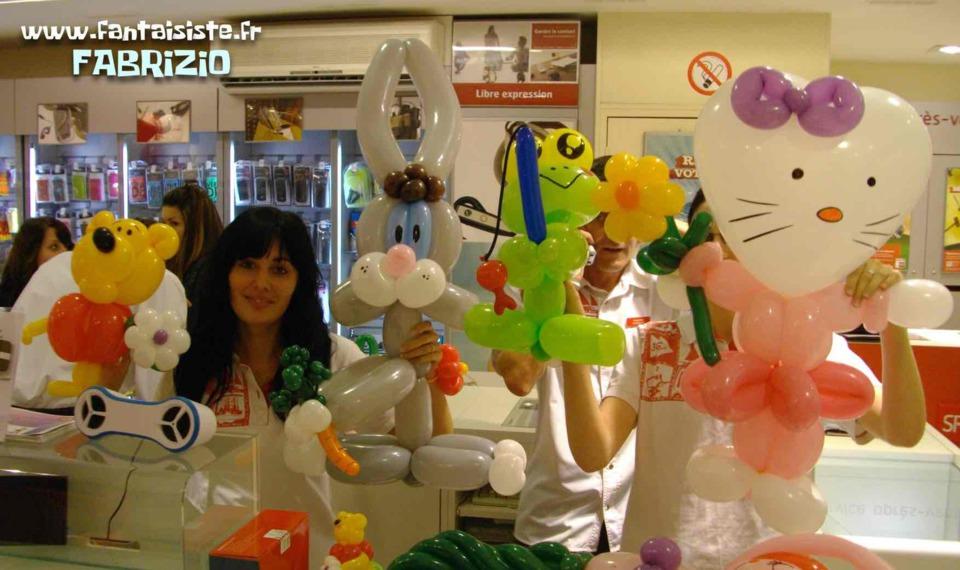 les ballons de fabrizio le magicien fantaisiste à Marseille et Provence Alpes Côte d'Azur France