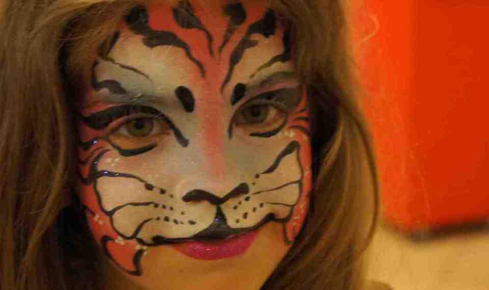 maquillages de tigre rose, maquillages de panthere rose fabrizio fantaisiste marseille